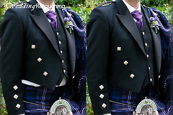 When clothes go wrong at weddings, correcting wardrobe malfunctions by retouching wedding photos